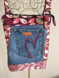 Recycled Denim Shoulder Bag
